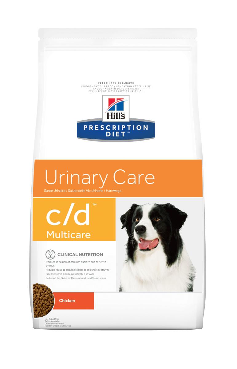 HILL'S PRESCRIPTION DIET C/D MULTICARE URINARY CARE – лечебный сухой корм для профилактики и лечения мочекаменной болезни для собак