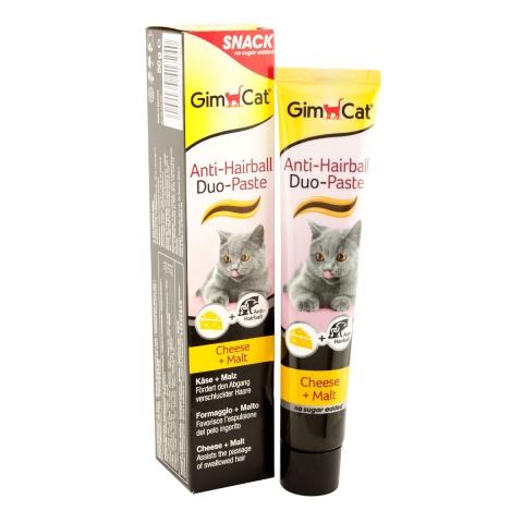 Gimcat Anti-Hairball Duo-Paste паста с сыром для вывода комков шерсти