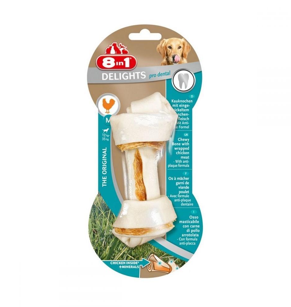 8in1 Delights Pro Dental – пресована кістка з вузлами для чистки зубів