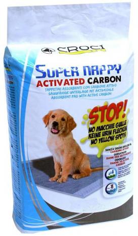 Croci Super Nappy Carbon пелюшки для собак з активованим вугіллям, 57×54