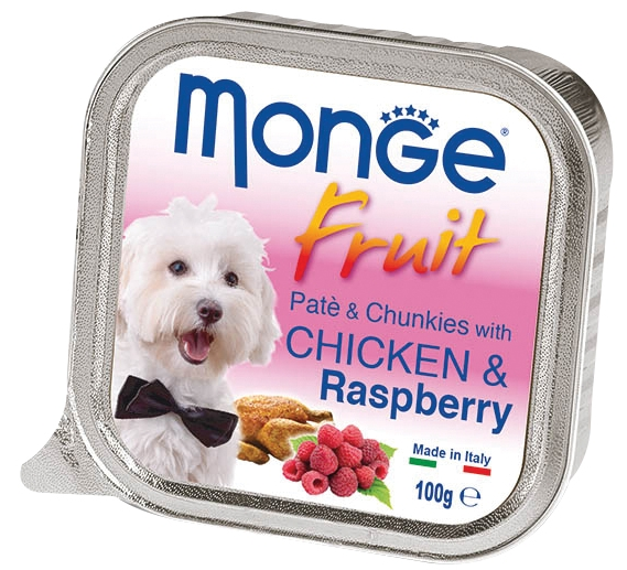 Monge Fruit with Chicken and Raspberry – консерви з куркою та малиною для собак
