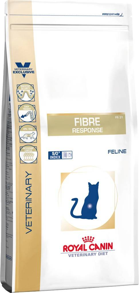 ROYAL CANIN FIBRE RESPONSE FELINE –лікувальний сухий корм для дорослих котів при порушеннях травлення