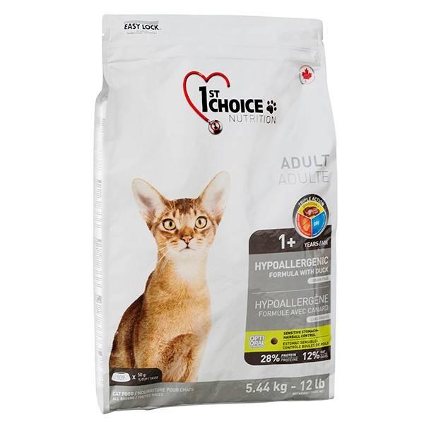 1ST CHOICE ADULT HYPOALLERGENIC – гипоаллергенный сухой корм для взрослых котов