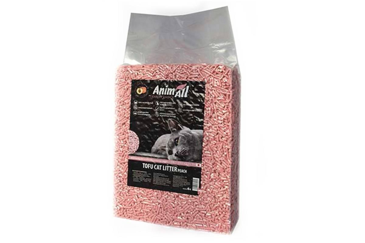 ANIMALL TOFU соеввый наполнитель для кошачьего туалета с ароматом персика