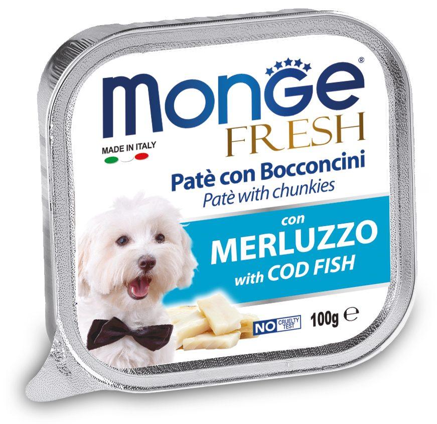 Monge Fresh Cold Fish – консервы с треской для собак