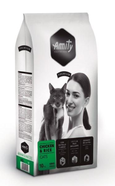 Amity Chicken & Rice – повсякденний сухий корм з куркою та рисом для котів
