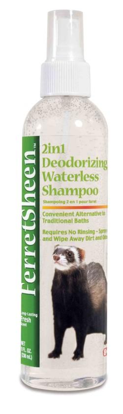 Ferretsheen 2in1 Deodorizing Waterless Shampoo – шампунь, не требующий смывания, для хорьков