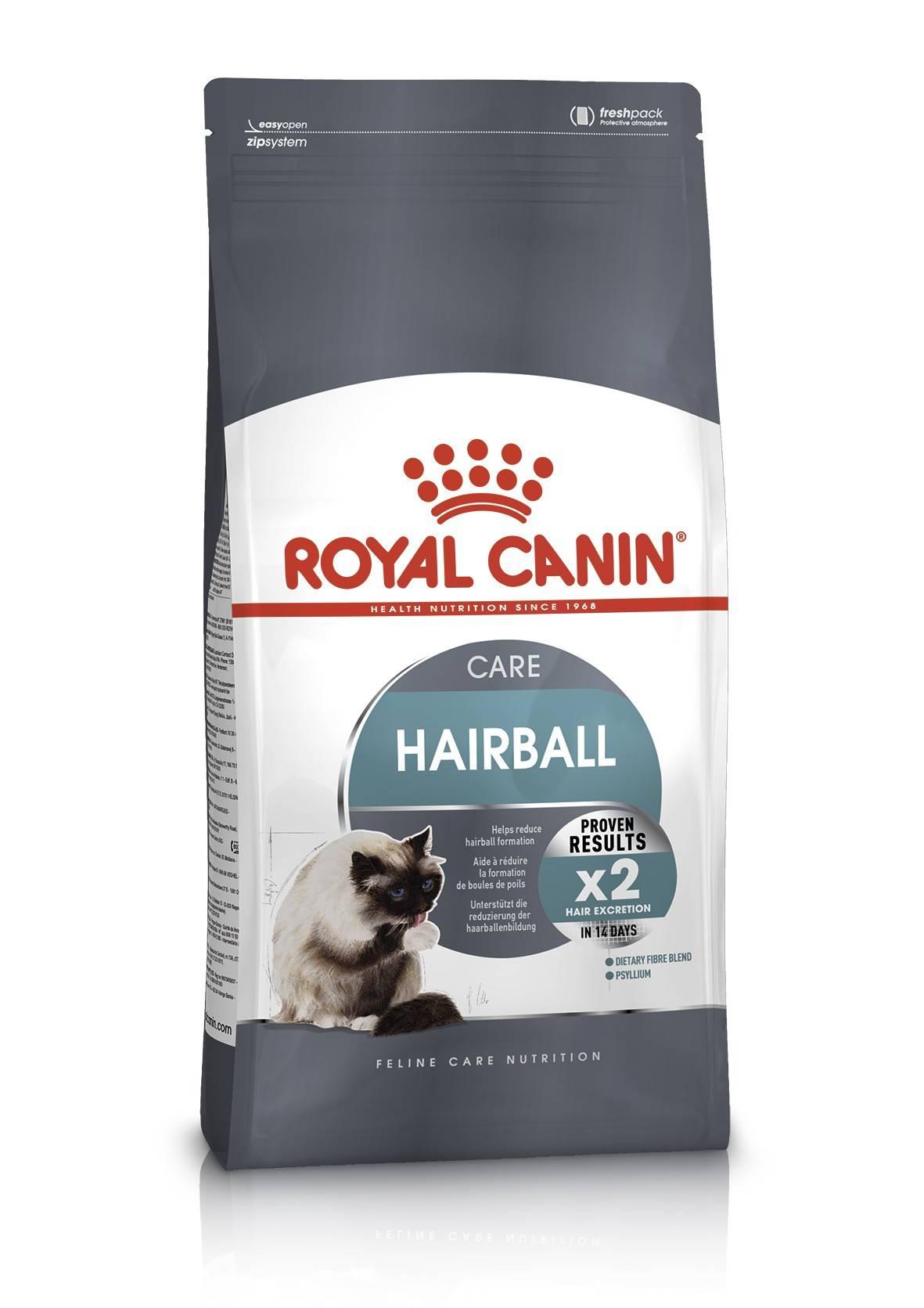 ROYAL CANIN HAIRBALL CARE – сухой корм для взрослых котов для выведения комочков шерсти