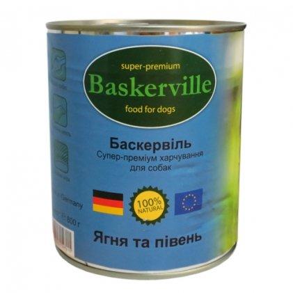 Baskerville – влажный корм с ягненком и петухом для взрослых собак