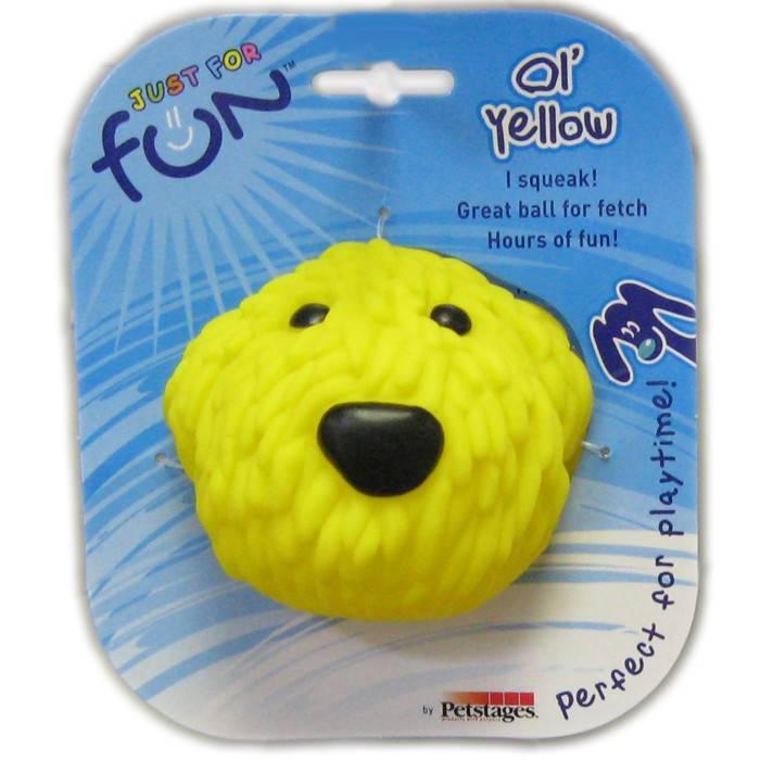PETSTAGES OL YELLOW – игрушка-пищалка для собак
