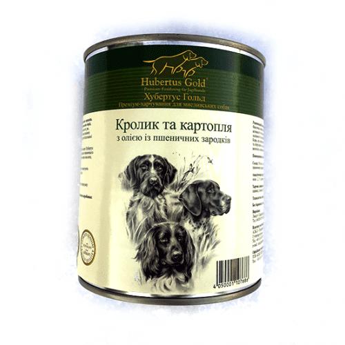 HUBERTUS GOLD вологий корм з кроликом і картоплею для дорослих собак