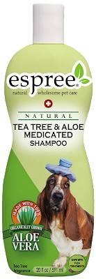 ESPREE Tea Tree & Aloe Shampoo – лечебный шампунь для собак с проблемной сухой кожей