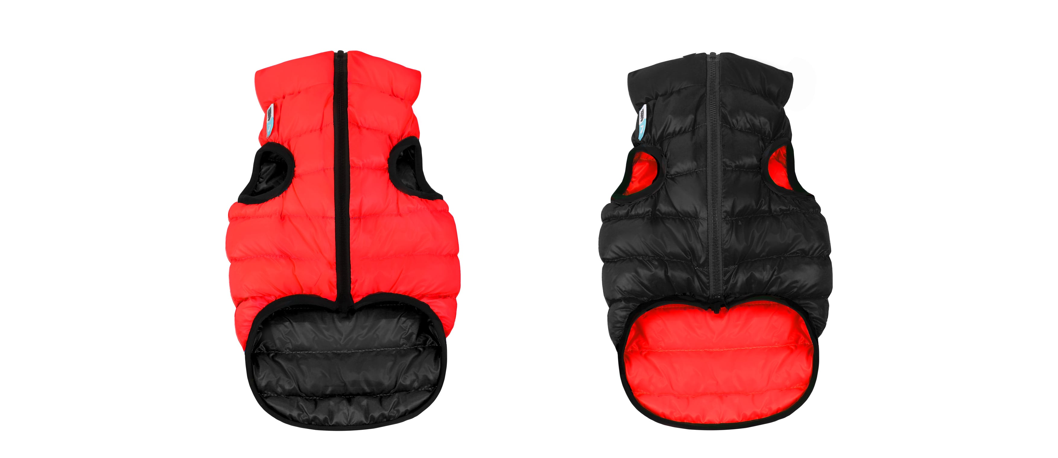 AiryVest – двостороння куртка для собак, червоно-чорна