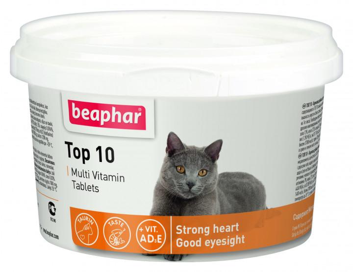 Beaphar Top 10 – мультивитамины с таурином для котов и котят
