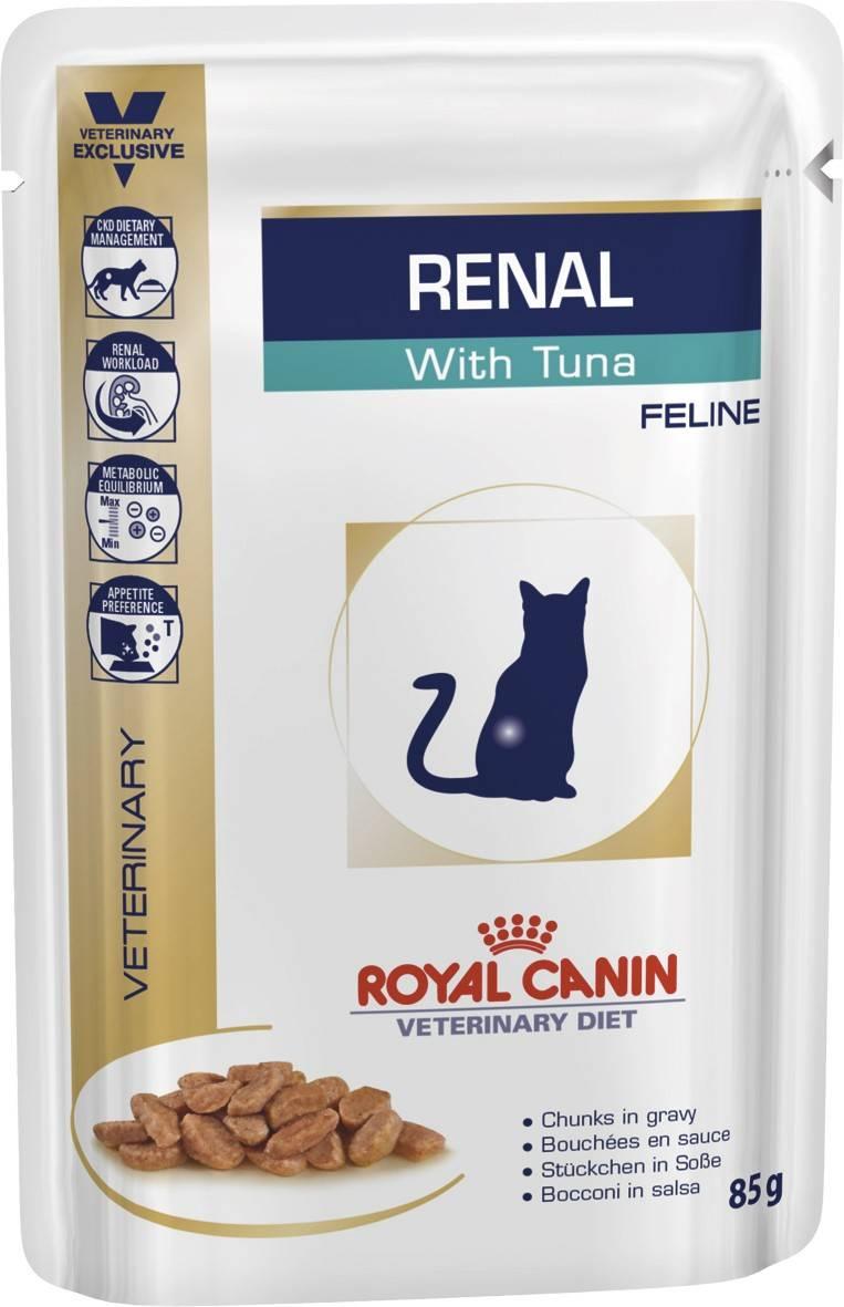 ROYAL CANIN RENAL FELINE with TUNA Pouches – лечебный влажный корм с тунцом для взрослых котов с почечной недостаточностью
