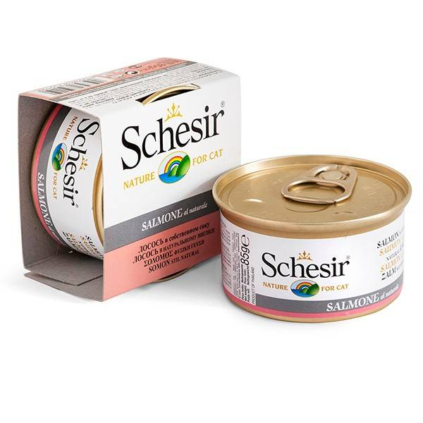 Schesir Salmon Natural Style – консерви з лососем для дорослих котів