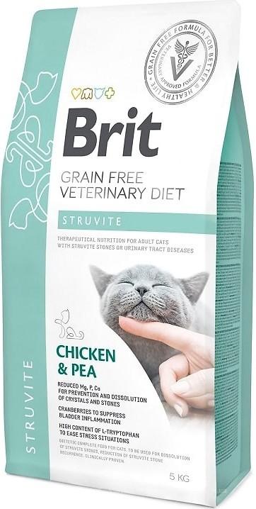 Brit Veterinary Diet Cat Struvite – лечебный сухой корм для взрослых котов при мочекаменной болезни