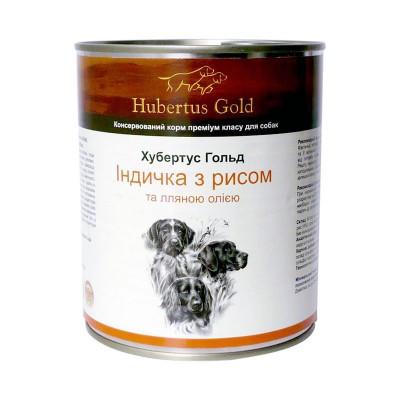 HUBERTUS GOLD вологий корм з індичкою та рисом для дорослих собак