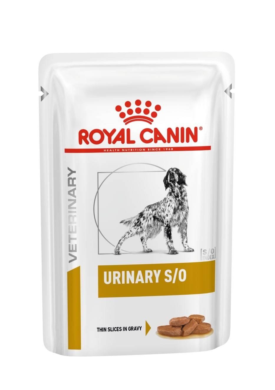 ROYAL CANIN URINARY S/О лечебный влажный корм, кусочки в соусе, для собак при заболеваниях нижних мочевыводящих путей