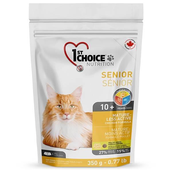 1ST CHOICE SENIOR MATURE LESS AKTIV – сухой корм для кошек старше 10 лет