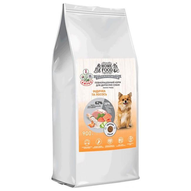 Home Food Mini Adult с лососем и индейкой – сухой корм для взрослых собак малых пород