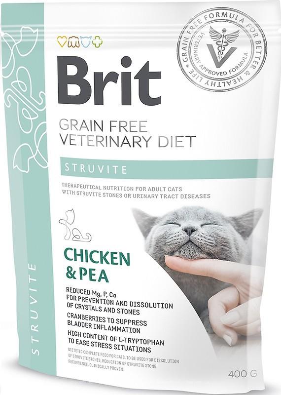 Brit Veterinary Diet Cat Struvite – лікувальний сухий корм для дорослих котів при сечокам'яній хворобі