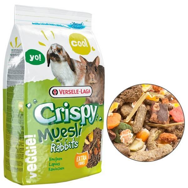 VERSELE-LAGA CRISPY MUESLI RABBITS CUNI – корм для карликових кроликів