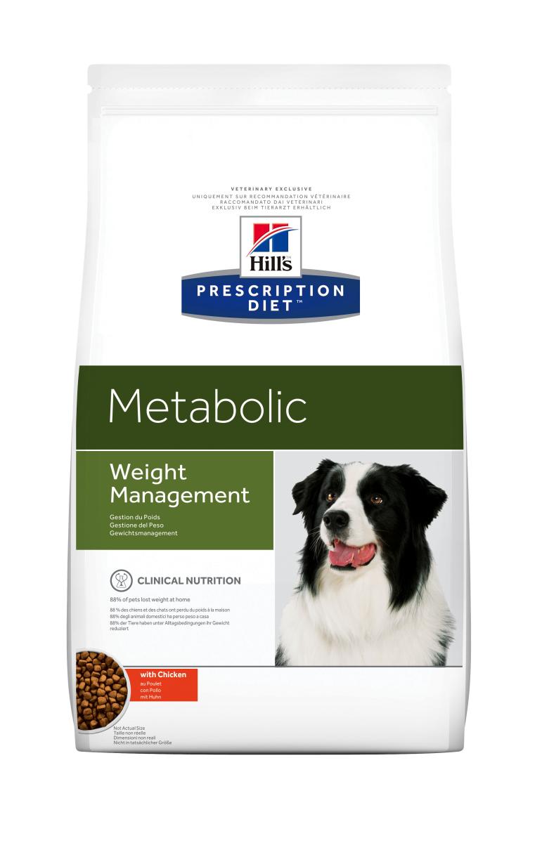 HILL'S PRESCRIPTION DIET METABOLIC WEIGHT MANAGEMENT – лечебный сухой корм для собак для снижения веса и его поддержания в пределах нормы