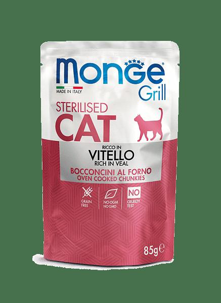 Monge Grill Sterilised консервы с телятиной для стерилизованных котов