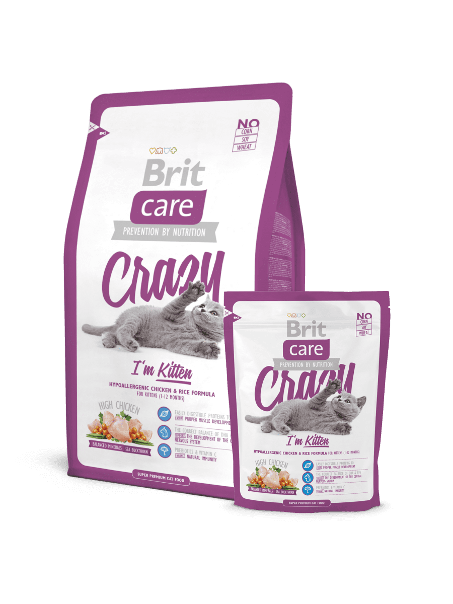BRIT CARE CAT CRAZY I'M KITTEN – сухой корм с курицей для котят