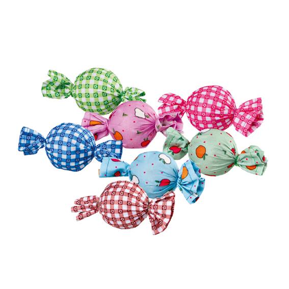 Trixie Rattle Candys – игрушка для кошек мяч-конфета с погремушкой