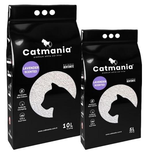 Catmania Lavander – бентонитовый наполнитель с ароматом лаванды для кошачьего туалета