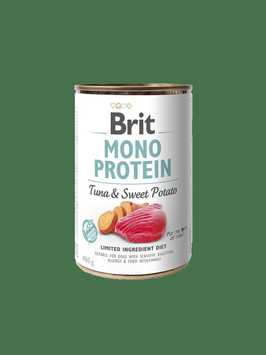 BRIT MONO PROTEIN TUNA & SWEET POTATO– консерва з тунцем і бататом для собак з чутливим травленням