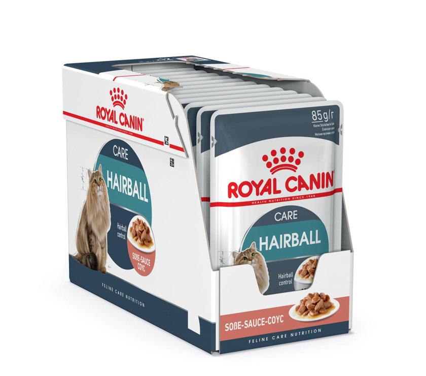 ROYAL CANIN HAIRBALL CARE wet in gravy – влажный корм  для взрослых котов для выведения комочков шерсти