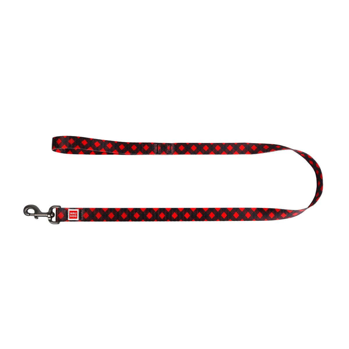 """WAUDOG Nylon """"Шотландка красная"""" поводок для собак, 122 см"""