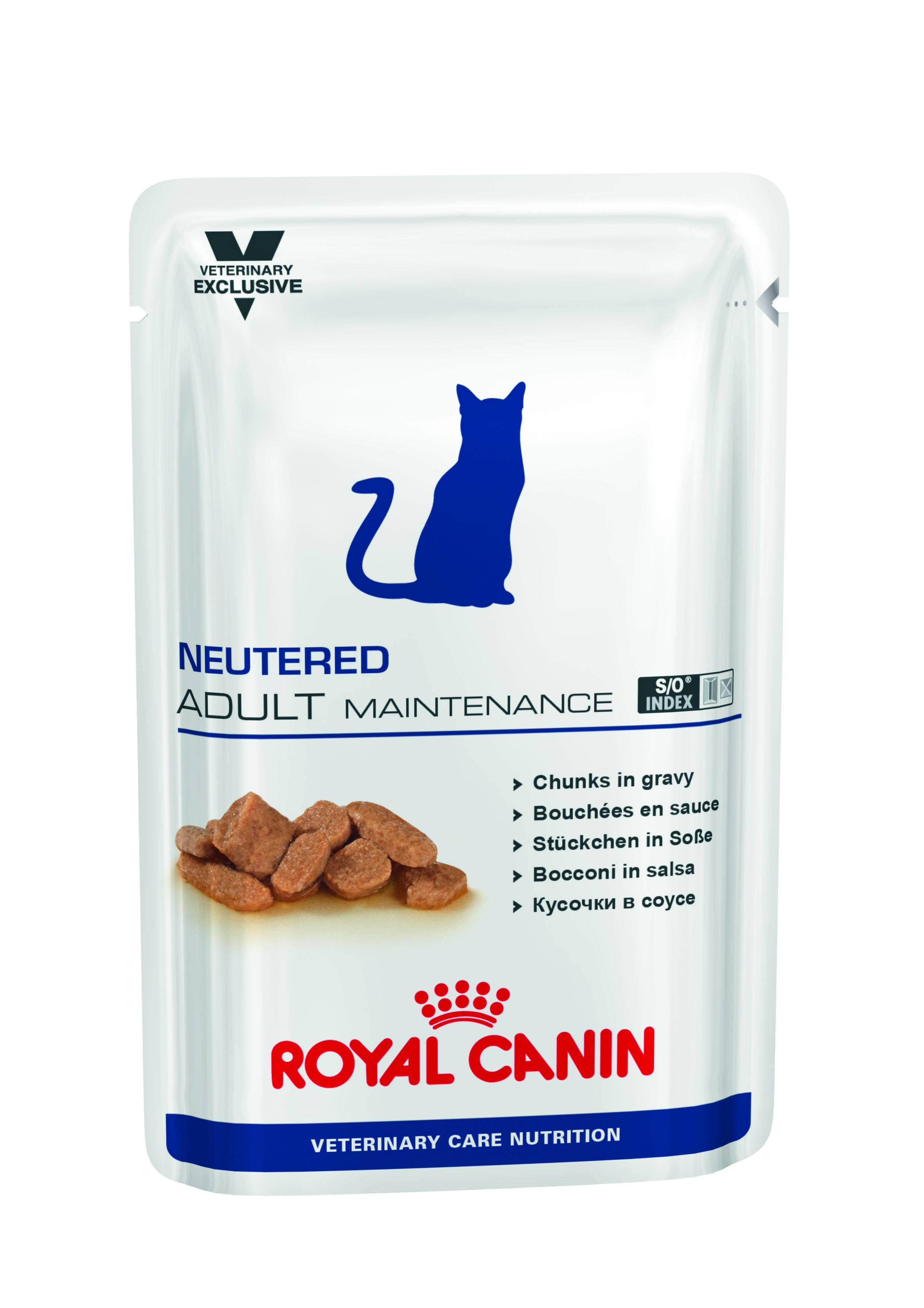 ROYAL CANIN NEUTERED ADULT MAINTENANCE – лечебный влажный корм для стерилизованных котов с момента операции до 7 лет