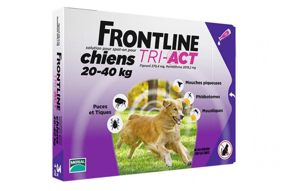 Frontline TRI-ACT капли против паразитов для собак весом от 20 кг до 40 кг