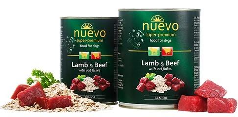 Nuevo Senior Lamb & Beef – консерви з ягням, яловичиною і вівсянкою для собак похилого віку