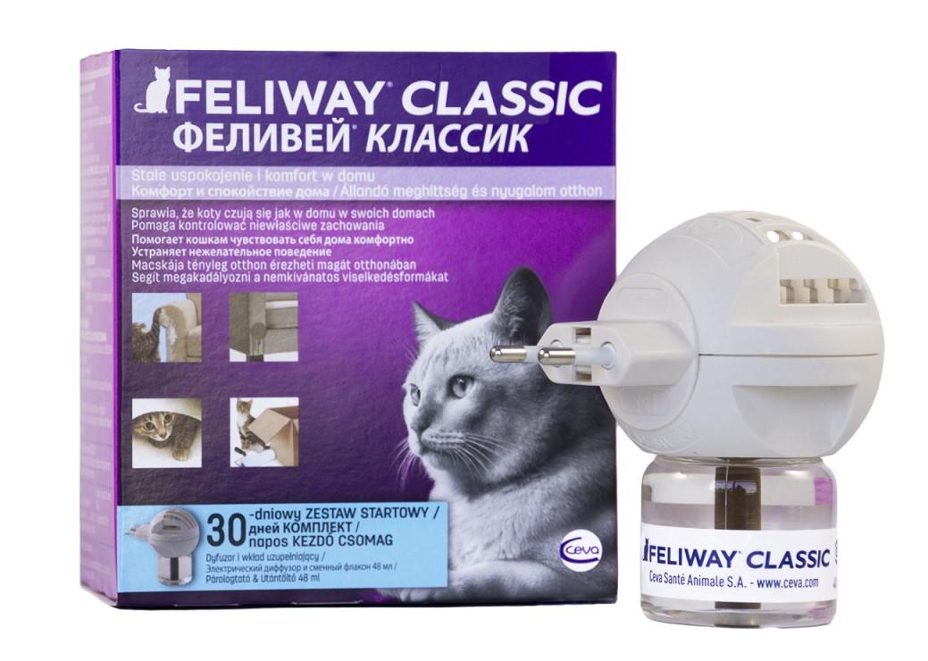 Feliway Classic диффузор (+ флакон) с феромонами для котов