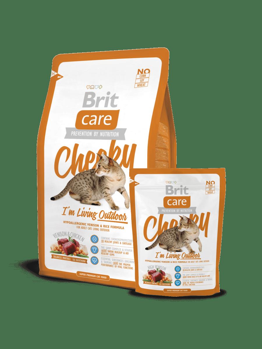 BRIT CARE CAT CHEEKY I'M LIVING OUTDOOR – сухий корм для дорослих котів, які мешкають на вулиці