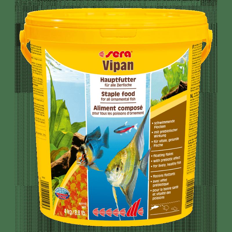 Sera Vipan Large Flakes – універсальний корм в пластівцях для риб