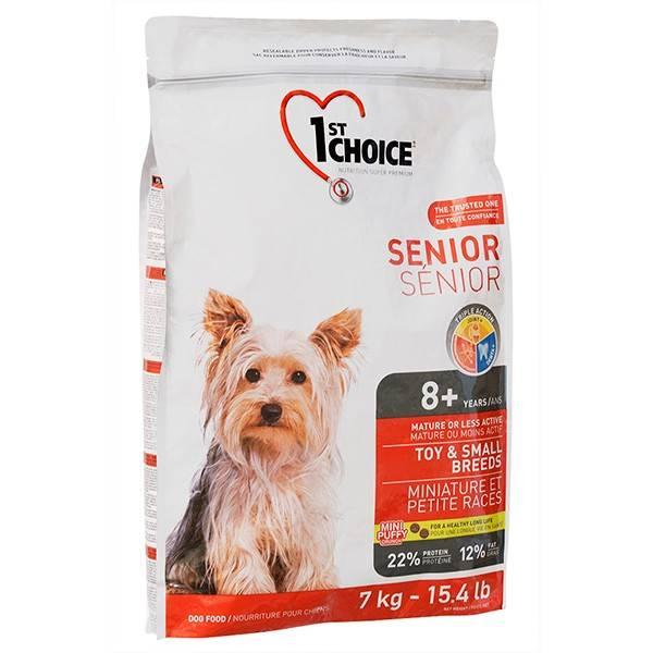 1ST CHOICE SENIOR TOY & SMALL BREEDS – сухой корм для пожилых собак миниатюрных и малых пород