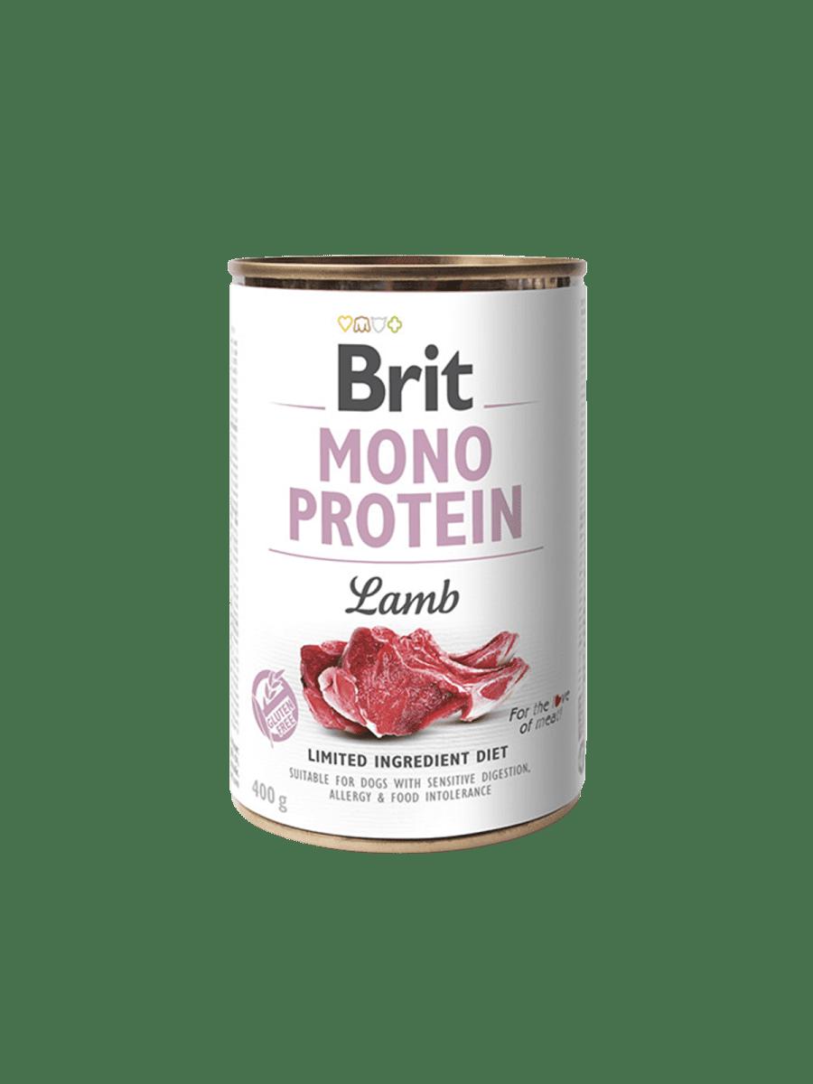 BRIT MONO PROTEIN LAMB – консерва с ягненком для собак чувствительным пищеварением