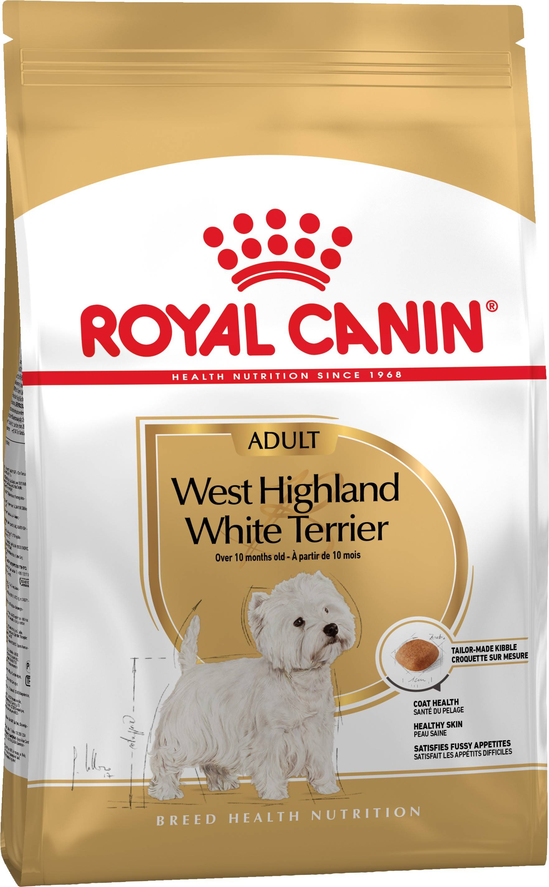 ROYAL CANIN WEST HIGHLAND WHITE TERRIER ADULT – сухий корм для дорослих собак породи вест-хайленд-уайт-тер'єр