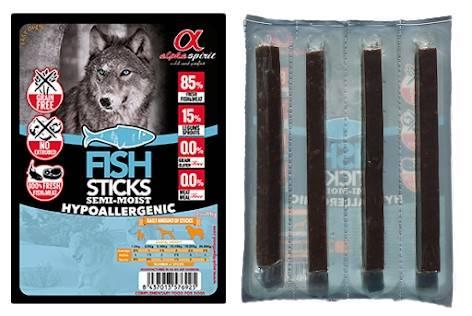 ALPHA SPIRIT STICKS FISH – беззерновое лакомство c рыбой для взрослых собак