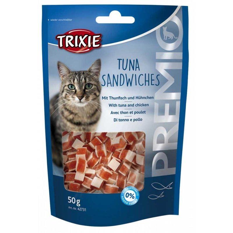 Trixie Premio Tuna Sandwiches – ласощі для котів з тунцем, cайдою і курячим філе у вигляді сендвічів