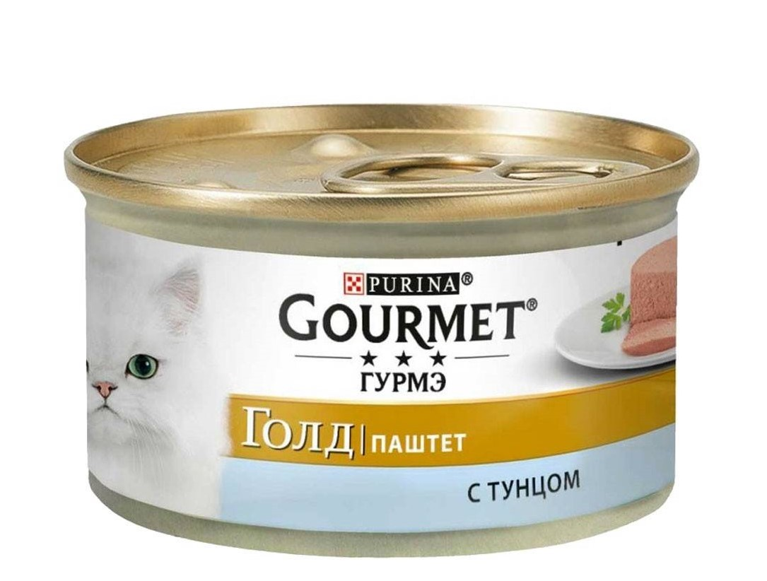 GOURMET Gold Pate Tuna – консерва із тунцем для дорослих котів