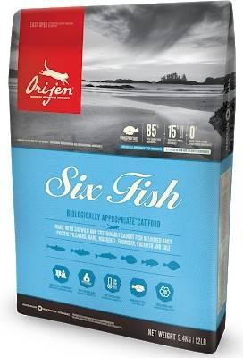 ORIJEN SIX FISH CAT&KITTEN –сухий сухий корм з рибою для кошенят і дорослих котів