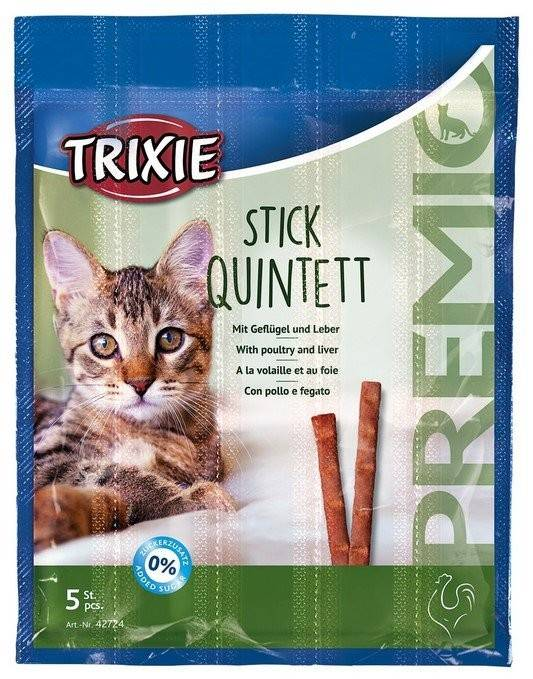 Trixie Premio Quadro-Sticks палочки с мясом домашней птицы и печенью для котов