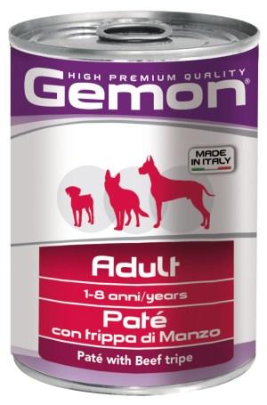Gemon Dog Adult Pate with Beef Tripe – консервы с говяжьим рубцом для взрослых собак